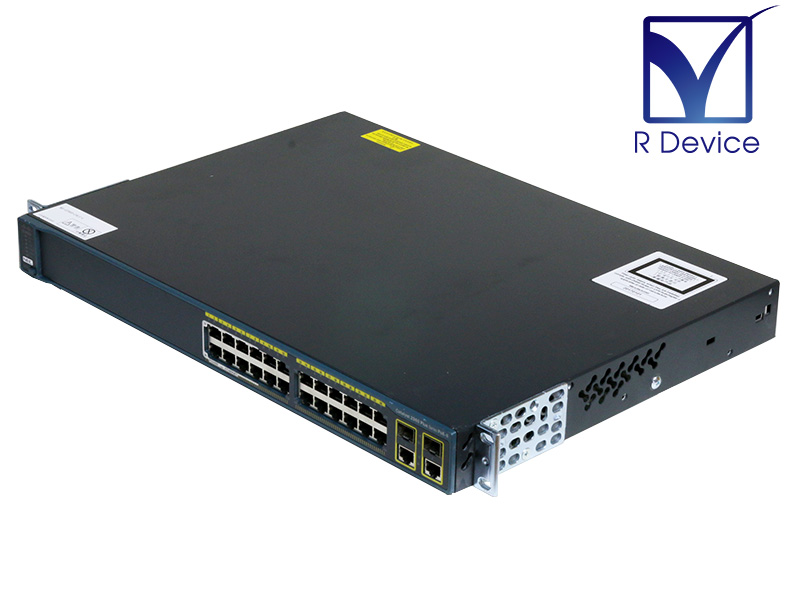 Catalyst 2960-Plus WS-C2960+24LC-L V02 Cisco Systems SW Version:15.2(4)E2 初期化済み【中古】