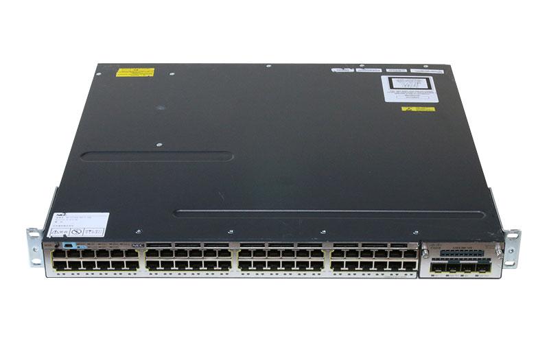 百貨店 Cisco Systems Catalyst 3750-X シリーズスイッチ 新生活 WS-C3750X-48T-L V03 ver 中古 2 SE 初期化済み C3KX-NM-10G搭載 電源ユニット 15.0