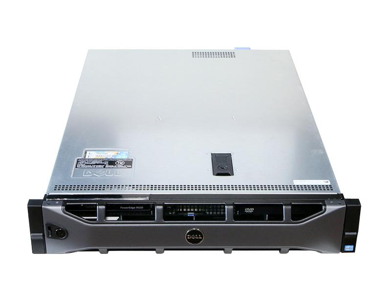 PowerEdge R520 DELL Xeon E5-2440 2.40GHz *1/8GB/300GB *2/DVD-ROM/PERC H710P/電源ユニット *2【中古】