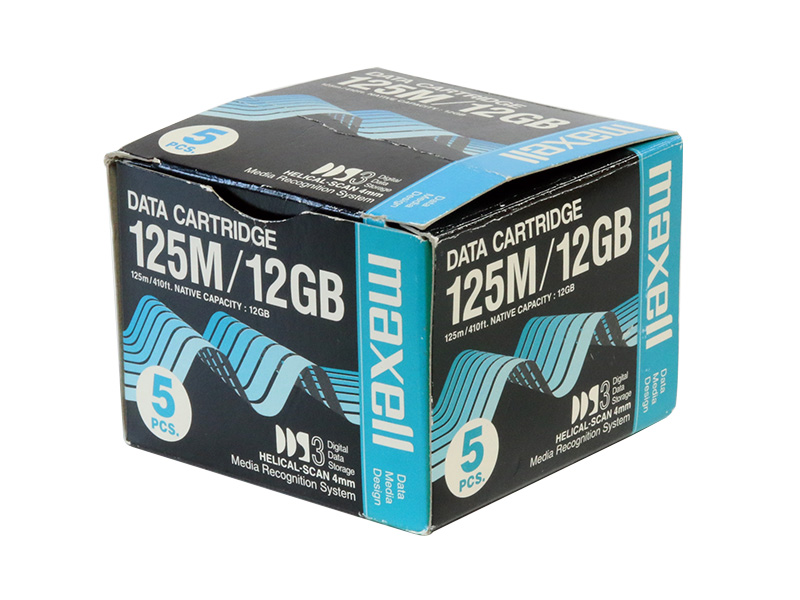 HS-4/125S(D) maxell DDSデータカートリッジ 12GB(24GB) 5巻セット【未開封品】【送料無料セール中! (大型商品は対象外)】