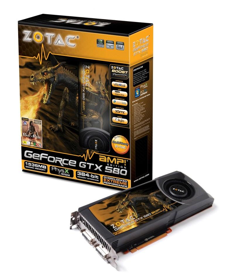 ZOTAC GeForce GTX 580 AMP! Edition 1536MB GDDR5 ZT-50102-10P リファビッシュ:アールデバイス