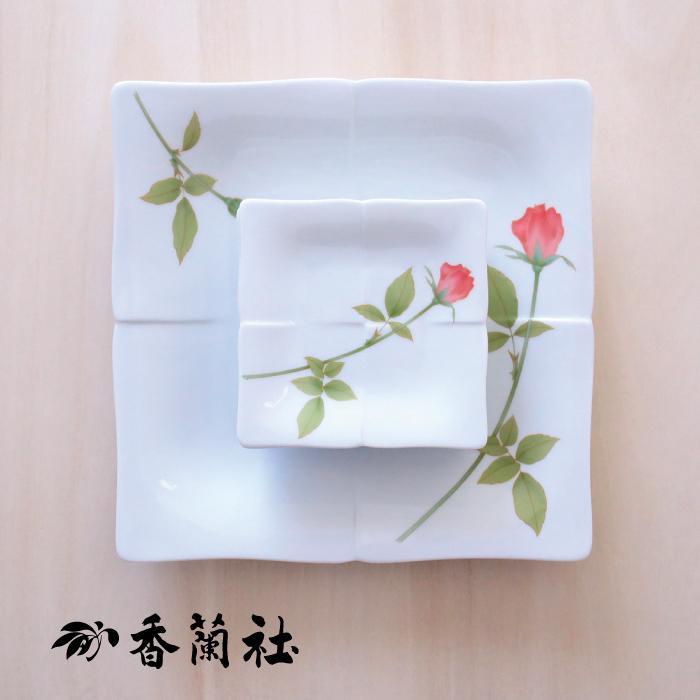 母の日 日本製 陶器の和遊感】 還暦祝 食器 香蘭社 送料無料【伝統工芸・ 結婚祝 敬老の日 内祝い 有田焼 記念品 ノーブルローズパーティーセット おしゃれ