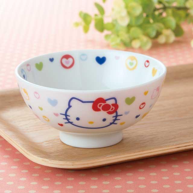 ハローキティ 茶わん 茶碗 カラフルハート ご予約品 子供茶わん ちゃわん 大人気