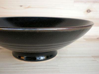 初売り さらに料理が美味しく見える 黒いうつわ 新品 送料無料 ゆず天目 8.0盛鉢