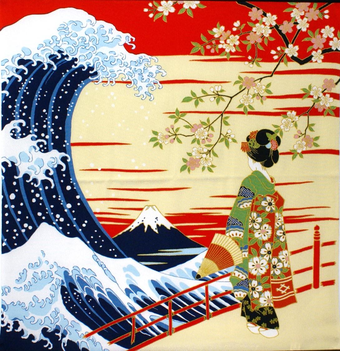 Wazakka Yufuka | Rakuten Global Market: Ukiyo-e ☆ maiko Fuji crepe ...