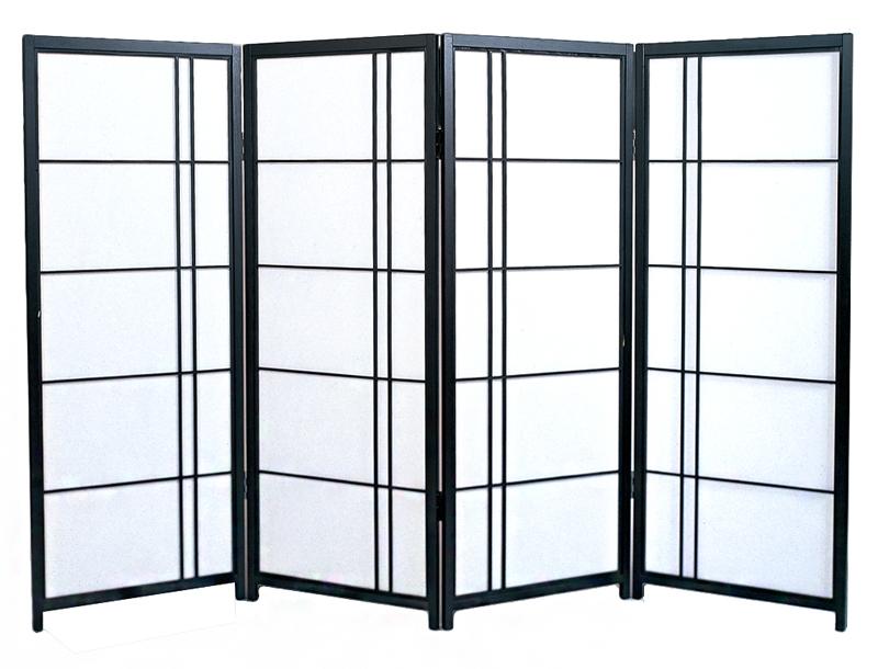 日本製 障子スクリーン 黒障子 片寄せ [強化和紙]全国送料無料無料 代引き手数料無料屏風 衝立 間仕切り パーテーション 障子 和家具