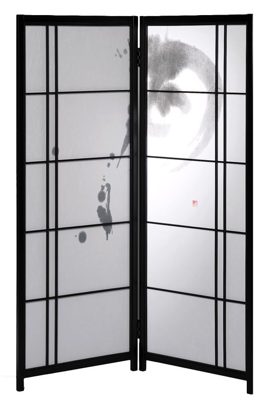 国産 日本製 障子スクリーン 二曲 月[強化和紙]屏風(びょうぶ) 衝立(ついたて) 間仕切り(パーテーション) 障子(しょうじ) 和家具 送料無料 代引き手数料無料