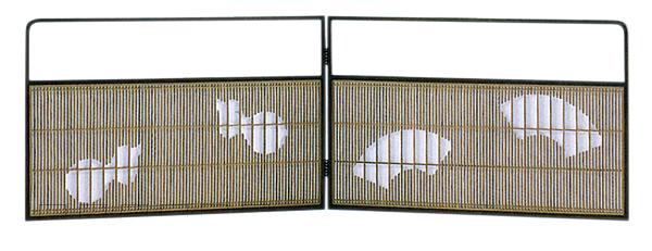 【日本製】 風炉先屏風 女桑調 ひょうたんと扇 組子細工 屏風 衝立 ついたて 間仕切り パーテーション 和家具 茶道具 【受注生産商品です】【送料無料 ※北海道 沖縄 離島除く】【代引き手数料無料】