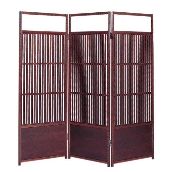 日本製 すだれ屏風 木製スクリーン 三曲 障子張り送料無料 代引き手数料無料 簾屏風 屏風 衝立 間仕切り パーテーション 和家具