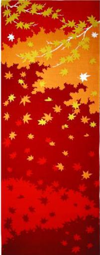 季節を楽しむ 四季彩布 プリントてぬぐい 手ぬぐい 手拭い メール便対応 11月 紅葉 日本製 新作通販 楓 秋 MADE 落ち葉 IN こうよう JAPAN もみじ 人気ブランド