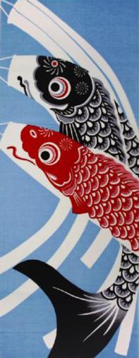 【メール便】手ぬぐい 手拭い 四季彩布 5月 鯉のぼり 日本製(MADE IN JAPAN)端午の節句 こどもの日 こいのぼり 日本手拭い