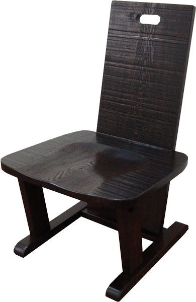 メーカー直送玄関渡し 椅子 全国送料・代引き手数料無料 木製 椅子単品 民芸家具