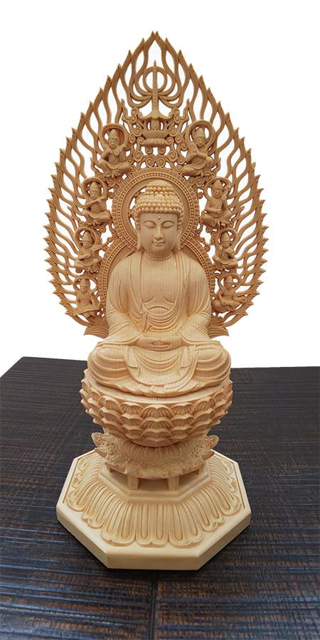 民芸家具 檜釈迦如来 全国送料・代引き手数料無料 木製 彫刻作品 如来様 メーカー直送
