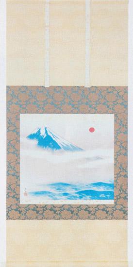 日本の名画を掛け軸に朝陽映島(ちょうようえいとう) 横山大観 複製画掛軸
