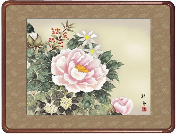 額装 和額 四季花(長江 桂舟) 受注後生産商品
