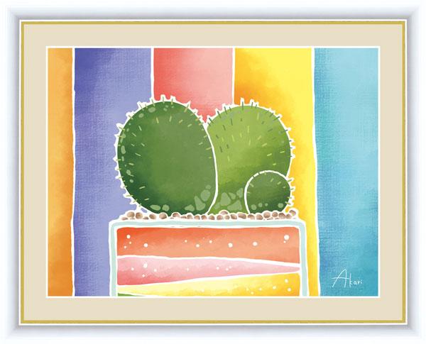 絵画 絵画 絵画 春田 あかり(はるた あかり) ちょっと気になる植物たち F6サイズ サボテンの寄せ植え 受注生産品 全国送料無料 代引き手数料無料 74f