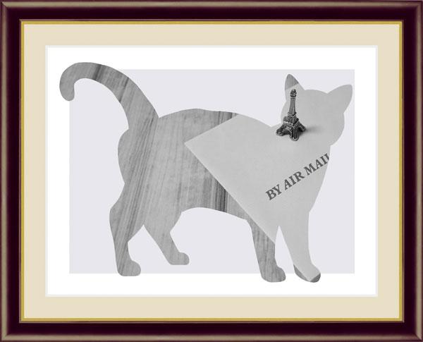 絵画 山口 美咲(やまぐち みさき) Dog & Cat F6サイズ Letter 受注生産品 全国送料無料 代引き手数料無料