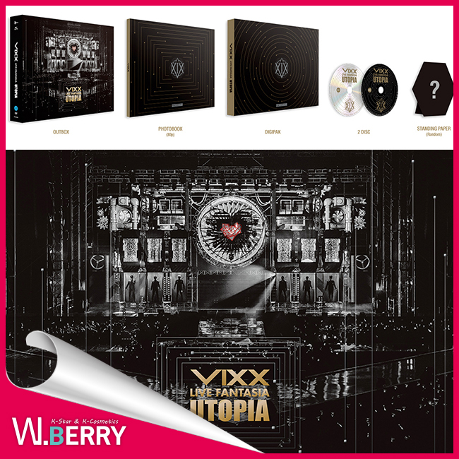 1種VIXX BIC LIVE FANTASIA UTOPIA DVD 2DISC+照片書籍80P+sutandingupepa