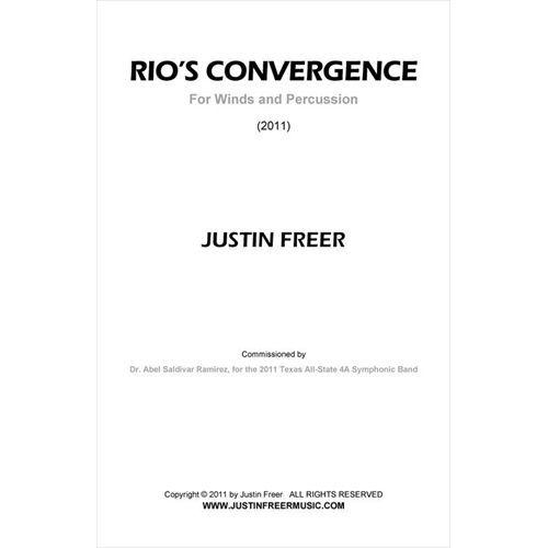 (楽譜) リオズ・コンバージェンス / 作曲:ジャスティン・フリーア (吹奏楽)(フルスコアのみ)