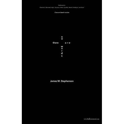 (楽譜) 言葉もなく / 作曲:ジェイムズ・M・スティーヴンスン (吹奏楽)(安価版スコア+パート譜セット)