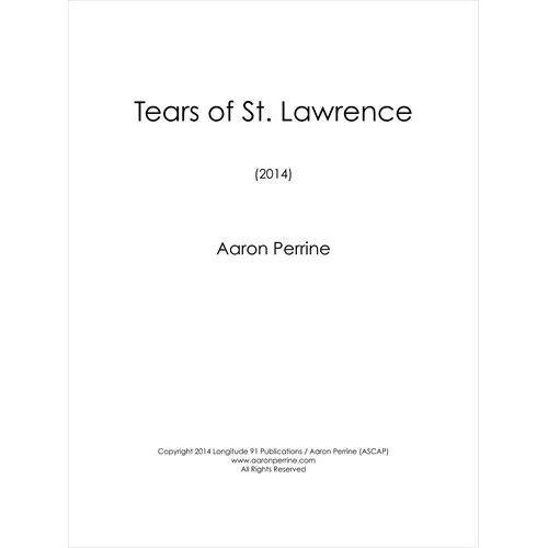 (楽譜) 聖ローレンスの涙 / 作曲:アーロン・ペリン (吹奏楽)(スコア+パート譜)