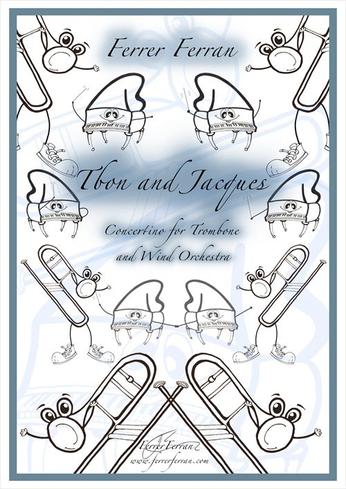 トロンボーン 楽譜 トボンとジャック トムとジェリー 作曲:フェレール 正規認証品!新規格 フェラン ピアノ メーカー公式ショップ