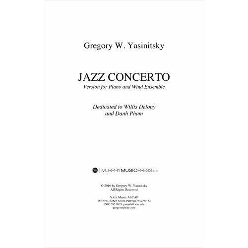 (楽譜-レンタル) ピアノと吹奏楽のためのジャズ協奏曲 / 作曲:グレッグ・ヤシニツキー (吹奏楽 ピアノ 協奏曲)(パート譜のみ)