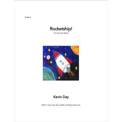 (楽譜) ロケットシップ! / 作曲:ケヴィン・デイ (吹奏楽)(スコア+パート譜セット)