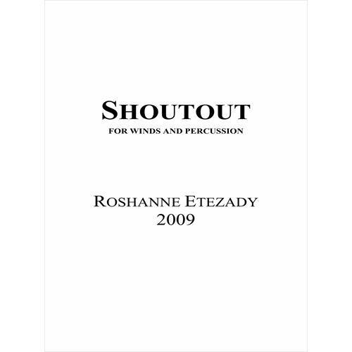 (楽譜) シャウトアウト / 作曲:ロシャンヌ・エテザディ (吹奏楽)(スコア+パート譜セット)