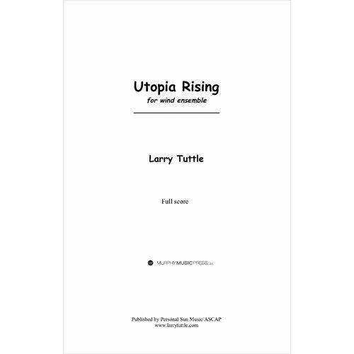 吹奏楽 通信販売 在庫処分 楽譜 ユートピア ライジング 作曲:ラリー スコア+パート譜セット タトル