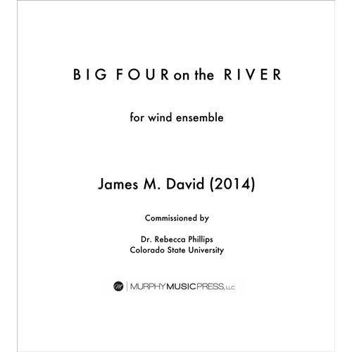 (楽譜) ビッグ・フォー・オン・ザ・リバー / 作曲:ジェイムズ・デヴィッド (吹奏楽)(スコア+パート譜セット)