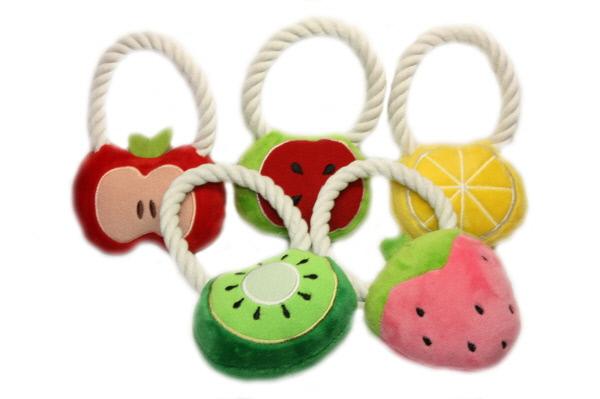 【おもちゃ】犬用おもちゃ フルーツ・ロープトイ(ドッグトイ・ロープ)