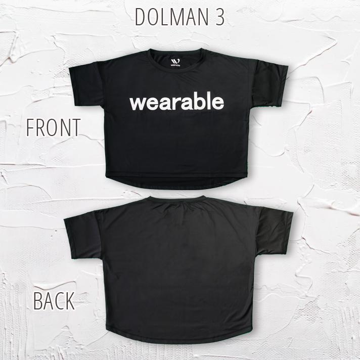 ドルマンスリーブスポーツTシャツウェアラブル社オリジナルドルマンスリーブ吸水速乾