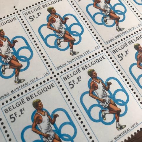 【送料無料】カナダオリンピック 1976 未使用 記念切手 記念シート 100m男子