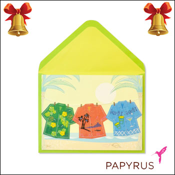 Web beauty takashi mido rakuten global market papyrus greeting papyrus greeting cards tropical shirts on clothesline christmas gifts message card greeting card popup solid melody set import business m4hsunfo