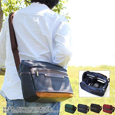 [バジェックス エニシ](カラー:ブラック/グリーン/ネイビーブルー/バーガンディ)(ショルダーバッグ カメラ バッグ おしゃれ メンズ バッグ ボディ ショルダーバッグ 大容量 タブレット収納 多機能)