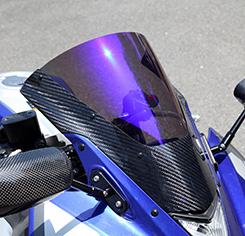 マジカルレーシングYZF-R25カーボントリムスクリーン綾織カーボン/スモーク