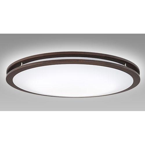 【送料無料】NEC LEDシーリングライト 調色/調光モデル ~12畳 ダークオーク SLDCD12528SG【smtb-u】