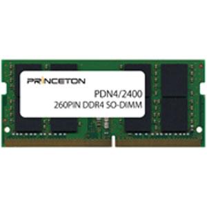 【送料無料】プリンストン PRINCETON DOS/V対応メモリーモジュール PC4-19200(DDR4-2400) CL=17 260PIN Unbuffered SO-DIMM 4GB PDN4/2400-4G