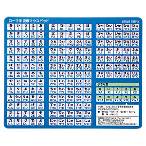 5980円(税込)以上で送料無料&追加で何個買っても同梱0円 サンワサプライ ローマ字変換マウスパッド ブルー MPD-OP17RL8BL