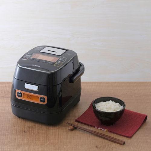 【送料無料】アイリスオーヤマ 銘柄量り炊きIHジャー炊飯器3合 リニューアル ブラック RC-IA31-B