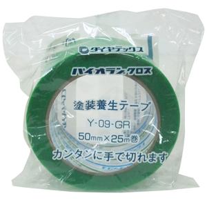 5980円 税込 以上で送料無料 追加で何個買っても同梱0円 新商品 新型 国際ブランド ダイヤテックス パイオランクロス Y-09-GR 50mm×25m 緑 養生用テープ