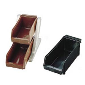 【送料無料】SA18-8デラックス オーガナイザー 2段1列(2ヶ入) ブラック EOC012