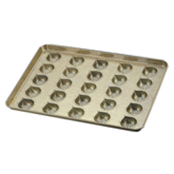 【送料無料】シリコン加工 マロンケーキ型天板 25ヶ取 6739600