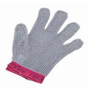 【送料無料】ニロフレックス メッシュ手袋5本指 M M5 赤 STB6502