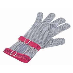 【送料無料】ニロフレックス メッシュ手袋5本指 M C-M5赤 ショートカフ付 STB6802【smtb-u】