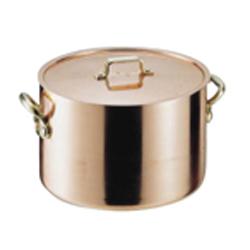 【送料無料】丸新銅器 SAエトール銅 半寸胴鍋 21cm AHV05021【smtb-u】