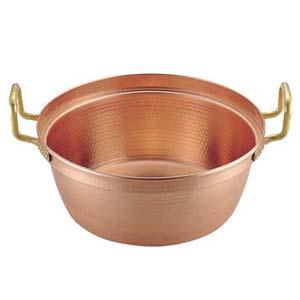 【送料無料】丸新銅器 SA銅 円付鍋 両手(錫引きなし) 54cm AEV1806