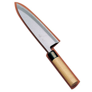 【送料無料】SA佐文 出刃(木製サヤ付) 27cm ASB13027