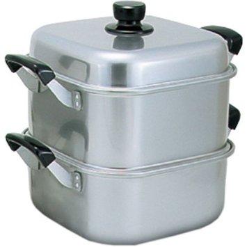 【送料無料】アカオアルミ アルマイト角型蒸器 33cm 一重 AMS71331